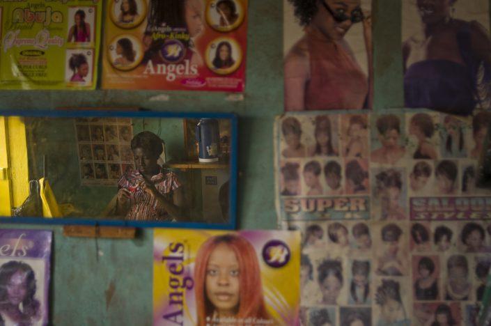 Masaka Hair Salon - documentary photography